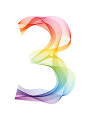 WAVY RAINBOW NUMBER 3 ICON