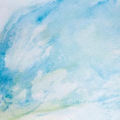 Pastellfarben und .Aquarell auf Papier - Hintergrund für Text und Bild