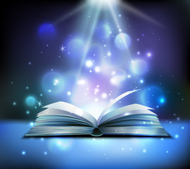 Magic Book Realistic Image