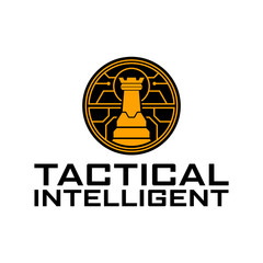 Rook Tactical Intelligent military logo design