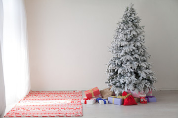 Merry Christmas tree gifts new year House Interior