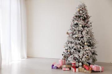 Christmas tree new year gifts holiday card tree interiors