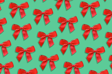 red decorative bow pattern