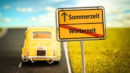 Fototapete - Schild 355 - Sommerzeit