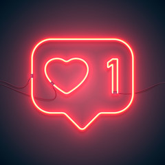 neon sign like heart