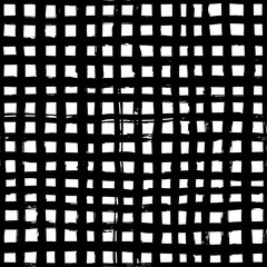 Abstract seamless black and white pattern, geometric background and linear texture, monochrome design, isolated on white background. Vector illustration. EPS 10