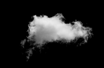 White cloud with  black background