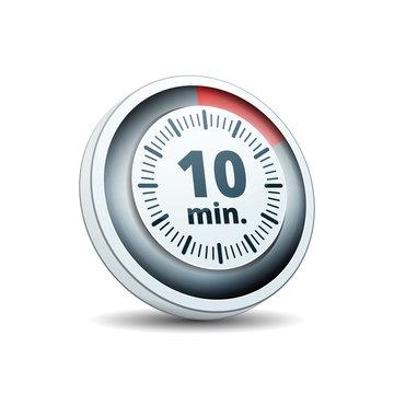 10 Minutes Time button illustration