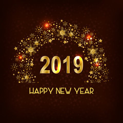Happy New Year 2019 wishes seasonal greeting background