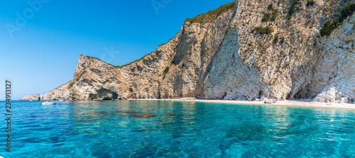 Wall mural Paradise beach, Ionian sea coast, Corfu island, Greece