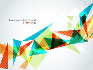Colorful triangular geometric vector bakcground
