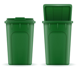 recycling bin trash bucket stock vector illustration
