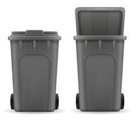 recycling bin trash bucket stock vector illustration