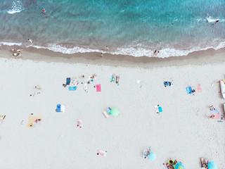 Aerial view of a Italian beach
