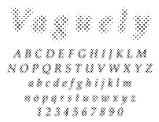 vaguely font dot