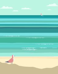 Summer seaside landscape