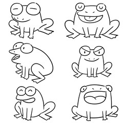 vector set of frog