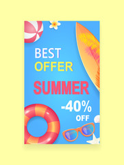 Summer Sale Vector Banner Promotion Leaflet Sample