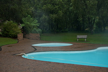 Garden lake/pond with warm water in Sabie, South Africa