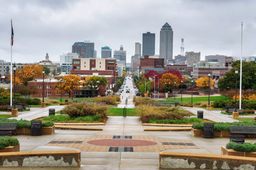 Downtown Des Moines viewed from the Iowa State Capitol