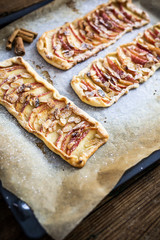 Home-baked Apple Pie on baking tray