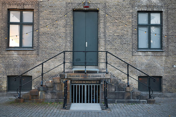 Copenhagen, denmark - October 10, 2018 : View of the Husets Teater in the Meatpacking District