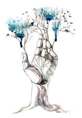 Fotorollo Gemälde hand