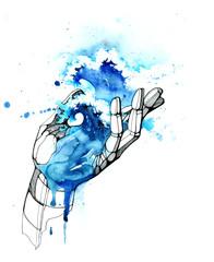 Fotobehang Schilderingen hand