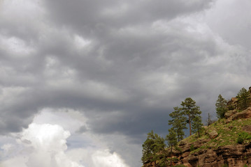 Sky with dark clouds in New Mexico