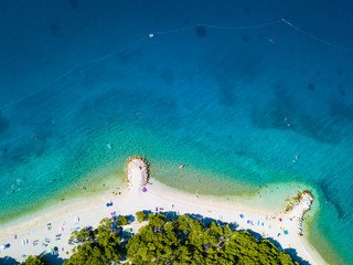 Luftaufnahme Strand, Adria, Dalmatien, Kroatien