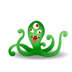 Funny crazy green monster.