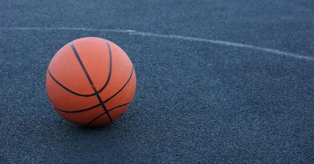 basketball ball on the court playing basketball