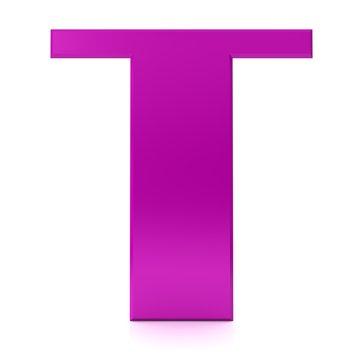 letter T 3d sign pink