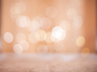 Wicker Burlap Cloth and Bokeh Lights in Background