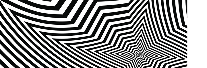 Abstract Black and White Geometric Pattern with Polygons. Psychedelic Texture of Computer Graphic. 3D Illustration