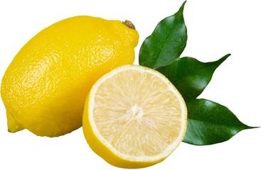 Close-up photo of citrus fruit isolated on white background