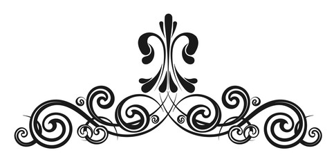 Vintage decorative calligraphic element Wall mural