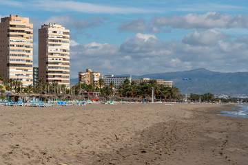 Playa Bajondillo near Malaga airport