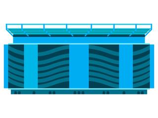 Isolated soccer stadium icon. Vector illustration design