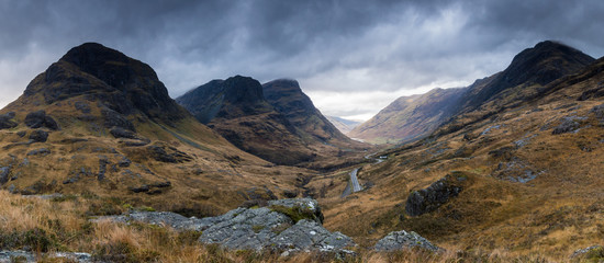 Panorama at the Three Sisters, nr Kinlochleven Sisters, Kinlochleven