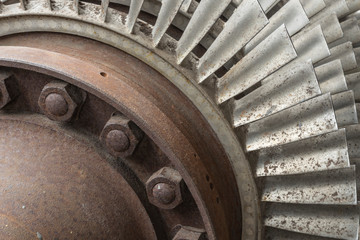 Wheel of a industrial turbine.
