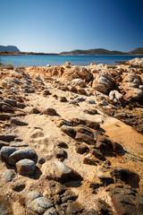 Steiniges Meeresufer