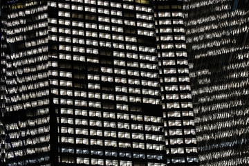 New York, street, buildings, abstract pattern, skyscraper windows