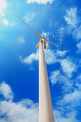 windmill in sunny day