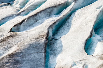Detail of ice of the Svelgabreen glacier is one of the many tongues of the large Folgefonna glacier
