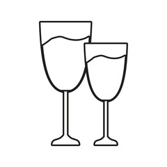 cups of champagne isolated icon