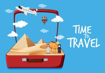 Travel to egypt desert