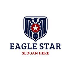 eagle badge star military logo