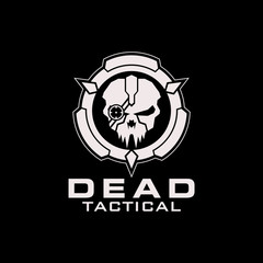 Dead tactical skull circle logo
