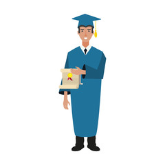 young man graduated with diploma